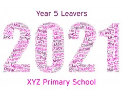 Personalised Word Art Print Teacher Gifts School Class Leavers End of Term Year