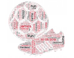 Personalised Word Art Print Football Ball Boots Player Coach Fathers Day Gifts