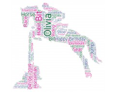Personalised Word Art Print Show Jumping Horse Racing Equitation Gifts