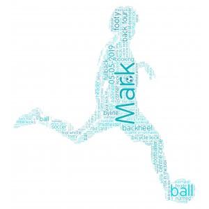 Personalised Word Art Print Football Soccer Player Fan Gift Idea