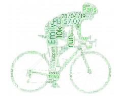 Personalised Word Art Print Female Cyclist Cycling Bike Riding Gift