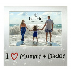 "I Love Mummy & Daddy Photo Frame - 5 x 3.5"" (13 x 9 cm)"