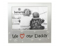 "We Love Our Daddy Photo Frame - 5 x 3.5"" (13 x 9 cm)"