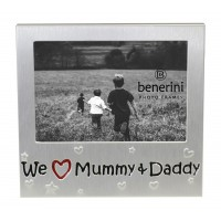 "We Love Mummy & Daddy Photo Frame - 5 x 3.5"" (13 x 9 cm)"