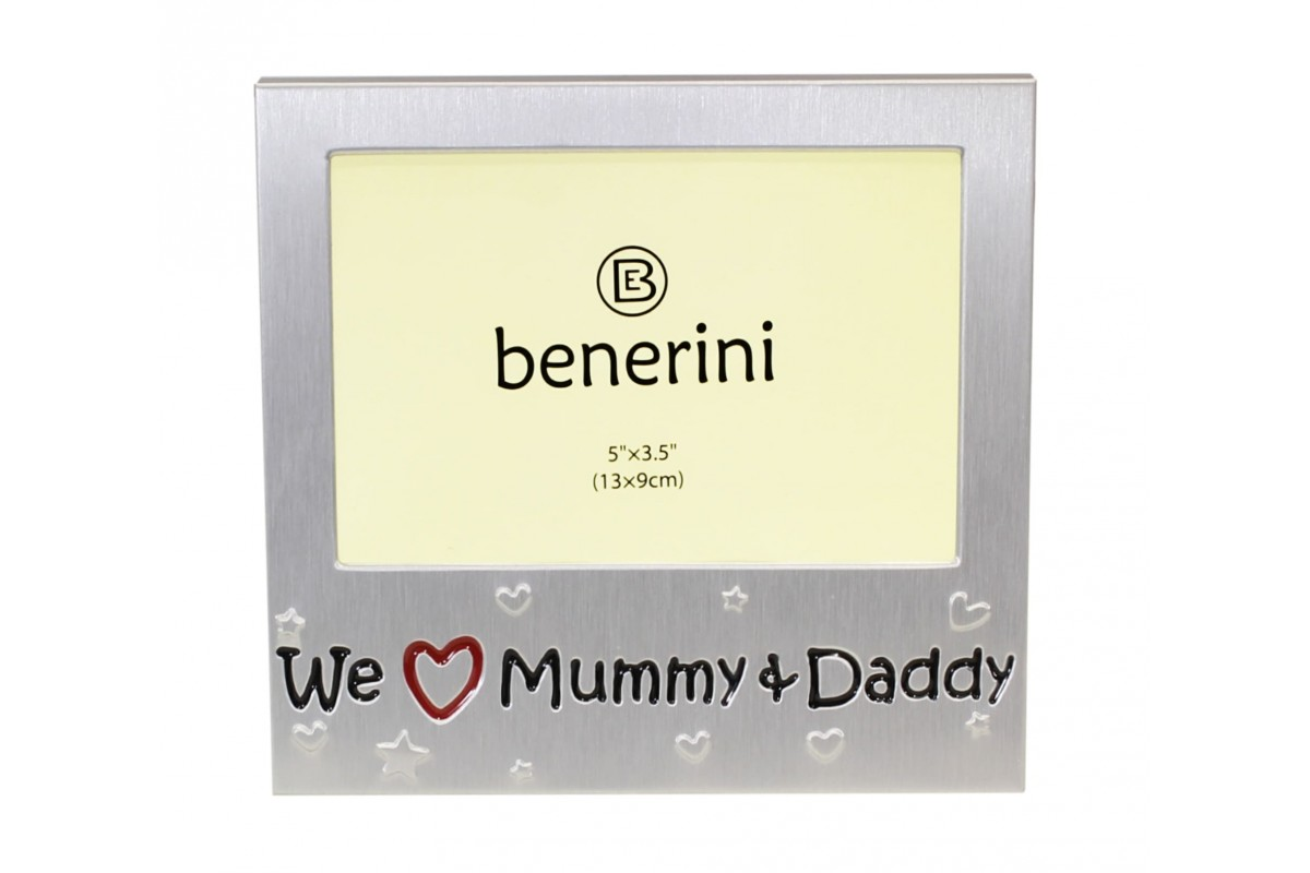 We Love Our Mummy & Daddy Photo Frame Gift Idea  benerini