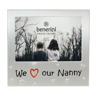 "We Love Our Nanny Photo Frame - 5 x 3.5"" (13 x 9 cm)"
