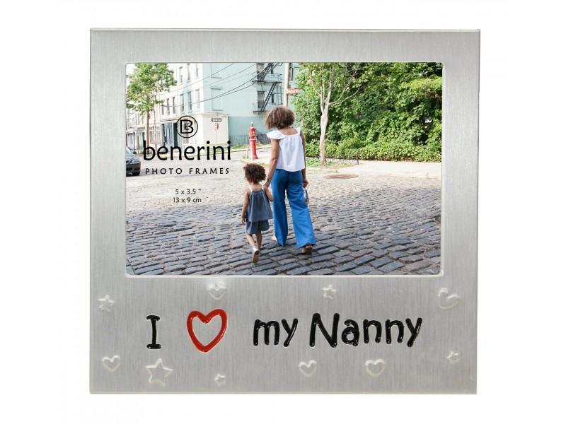 "I Love My Nanny Photo Frame - 5 x 3.5"" (13 x 9 cm)"