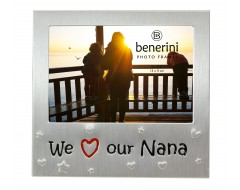 "We Love Our Nana Photo Frame - 5 x 3.5"" (13 x 9 cm)"