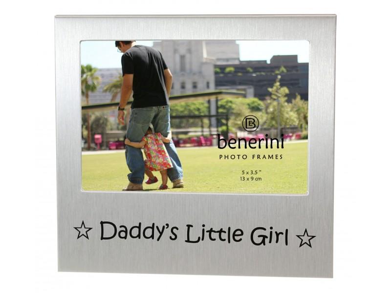 "Daddys Little Girl Photo Frame - 5 x 3.5"" (13 x 9 cm)"