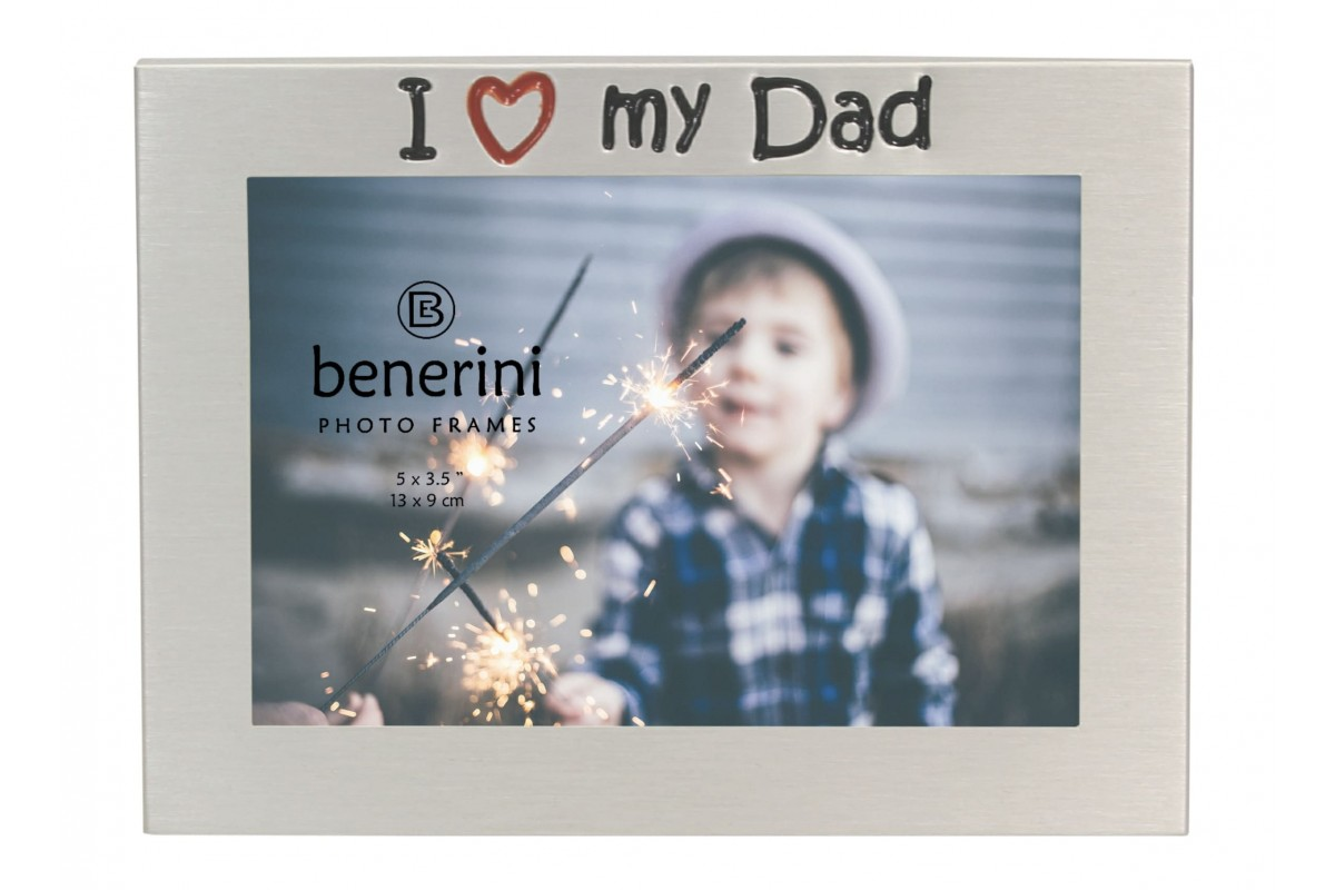 I Love My Dad Photo Frame Unique Present Benerini