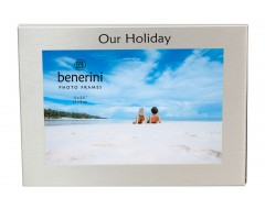 "Our Holiday Photo Frame - 5 x 3.5"" (13 x 9 cm)"