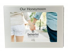 "Our Honeymoon Photo Frame - 5 x 3.5"" (13 x 9 cm)"