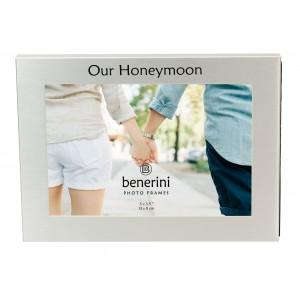 "Our Honeymoon Photo Frame - 5 x 3.5"" (13 x 9 cm)"
