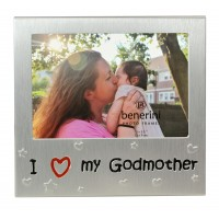 """I Love My Godmother Photo Frame - 5 x 3.5"""" (13 x 9 cm)"""
