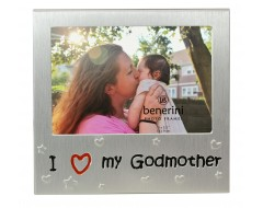 "I Love My Godmother Photo Frame - 5 x 3.5"" (13 x 9 cm)"