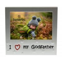 """I Love My GodFather Photo Frame - 5 x 3.5"""" (13 x 9 cm)"""