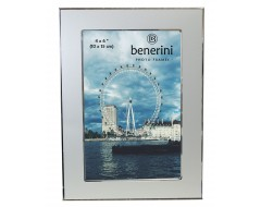 4 x 6 inches Plain Silver Colour Aluminium Photo Frame Gift Present - 038