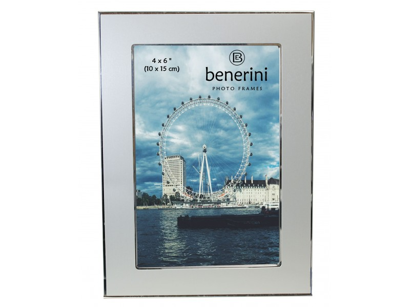 4 x 6 inches Plain Silver Colour Aluminium Photo Frame Gift Present - 038