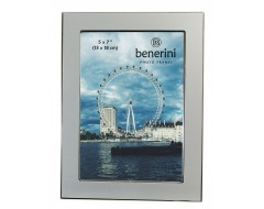 5 x 7 inches Plain Silver Colour Aluminium Photo Frame Gift Present - 039