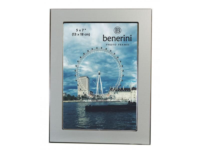 5 x 7 inches Plain Silver Colour Aluminium Photo Frame Gift Present - 039