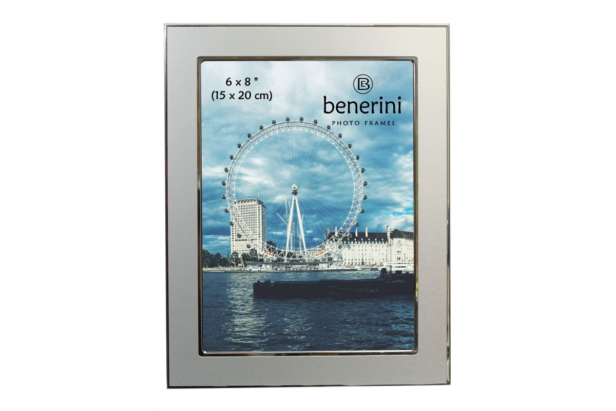 6 X 8 Inches Silver Colour Aluminium Photo Frame Benerini