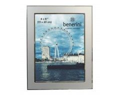 6 x 8 inches Plain Silver Colour Aluminium Photo Frame Gift Present - 040