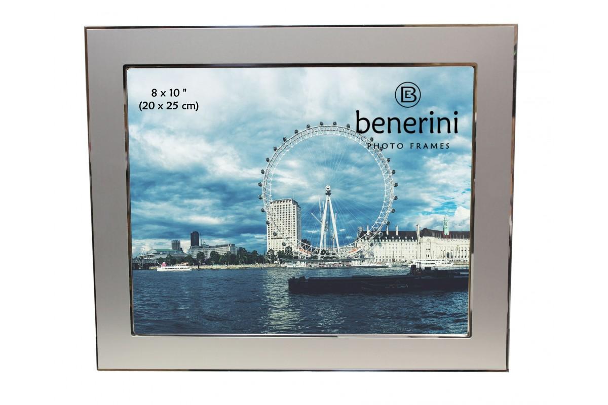 8 X 10 Inches Silver Colour Aluminium Photo Frame Benerini
