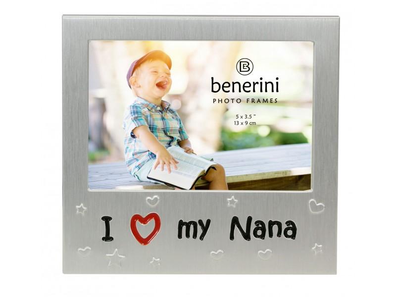 "I Love My Nana Photo Frame - 5 x 3.5"" (13 x 9 cm)"