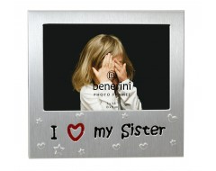 "I Love My sister Photo Frame - 5 x 3.5"" (13 x 9 cm)"