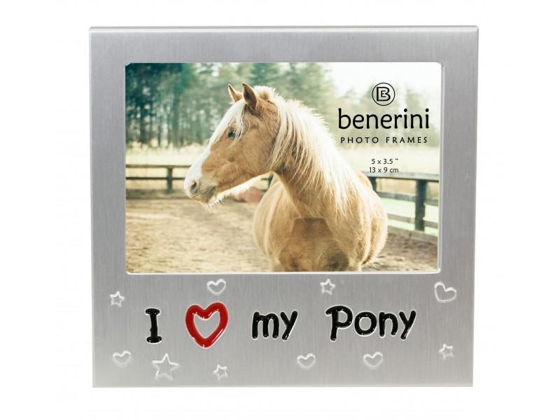 """I Love My Pony Photo Frame - 5 x 3.5"""" (13 x 9 cm)"""