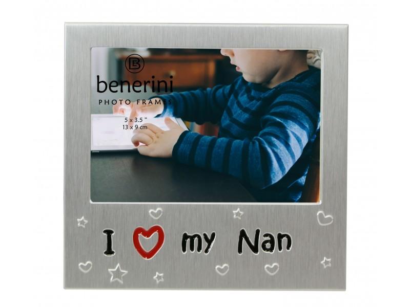 """I Love My Nan Photo Frame - 5 x 3.5"""" (13 x 9 cm)"""