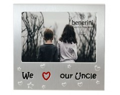 "We Love Our Uncle Photo Frame - 5 x 3.5"" (13 x 9 cm)"