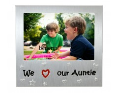 "We Love Our Auntie Photo Frame - 5 x 3.5"" (13 x 9 cm)"