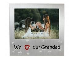 "We Love Our Grandad Photo Frame - 5 x 3.5"" (13 x 9 cm)"