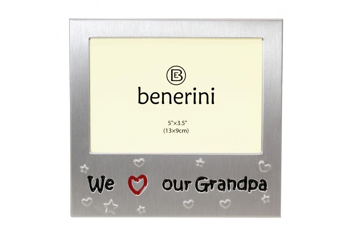 We Love Our Grandpa Picture Frame Present Idea | benerini