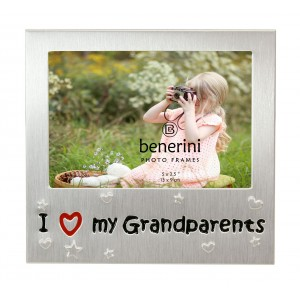 "I Love My Grandparents Photo Frame - 5 x 3.5"" (13 x 9 cm)"
