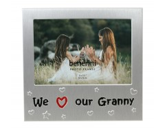 "We Love Our Granny Photo Frame - 5 x 3.5"" (13 x 9 cm)"
