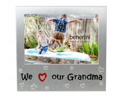 "We Love Our Grandma Photo Frame - 5 x 3.5"" (13 x 9 cm)"