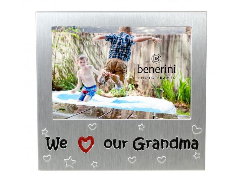 """We Love Our Grandma Photo Frame - 5 x 3.5"""" (13 x 9 cm)"""
