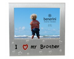 "I Love My Brother Photo Frame - 5 x 3.5"" (13 x 9 cm)"
