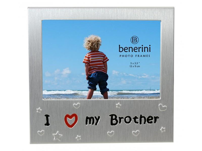 "I Love My Brother Photo Frame - 5 x 3.5"" (13 x 9 cm)"