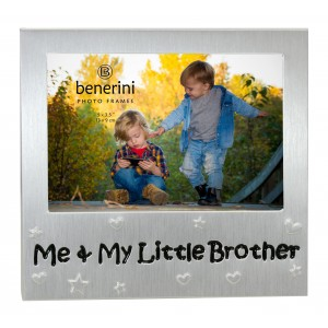 """Me and My Little Brother Photo Frame - 5 x 3.5"""" (13 x 9 cm)"""