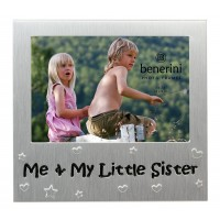 "Me and My Little sister Photo Frame - 5 x 3.5"" (13 x 9 cm)"