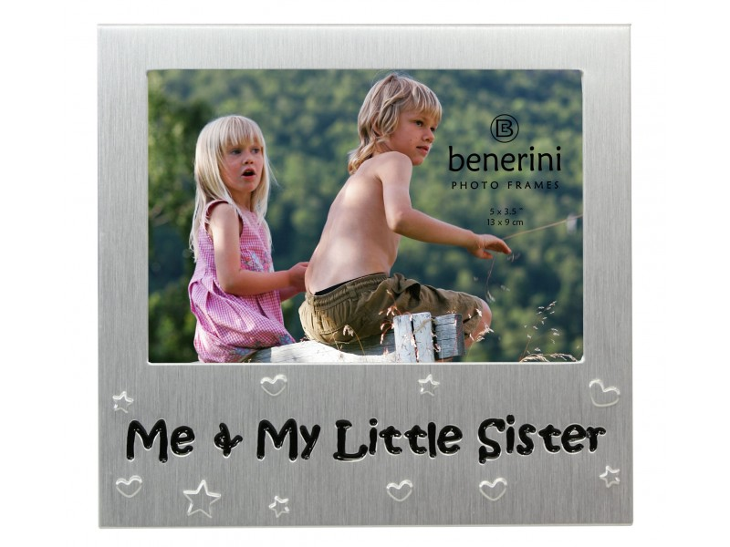 """Me and My Little sister Photo Frame - 5 x 3.5"""" (13 x 9 cm)"""
