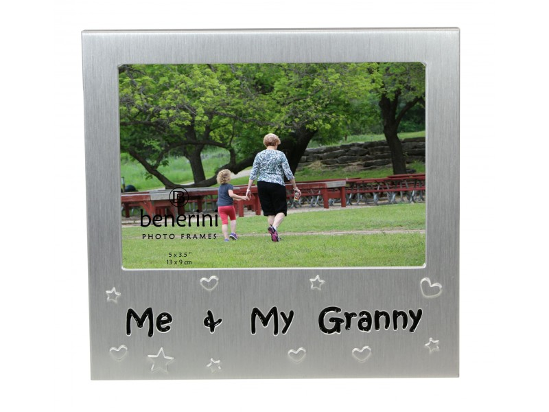 "Me and My Granny Photo Frame - 5 x 3.5"" (13 x 9 cm)"