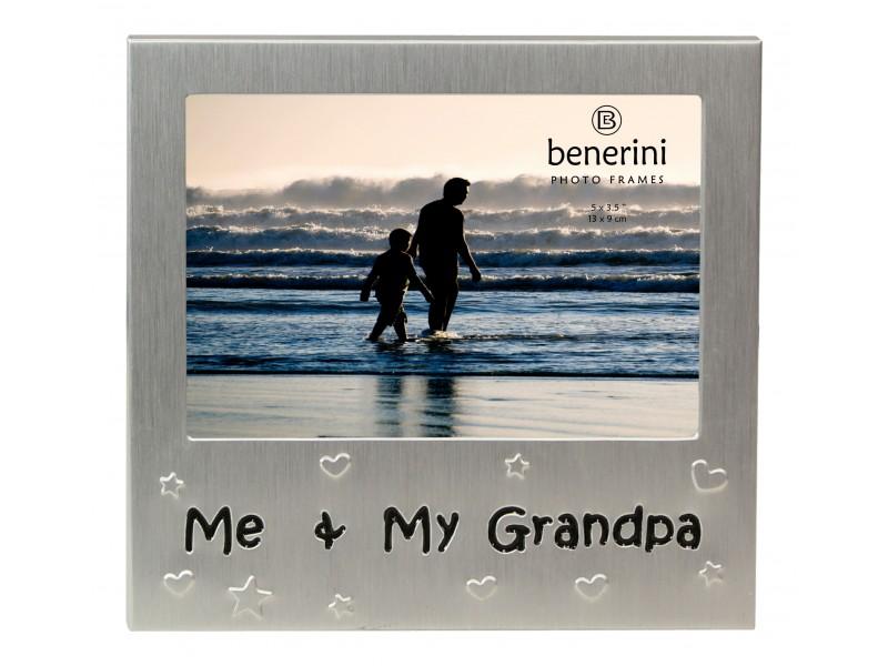 "Me and My Grandpa Photo Frame - 5 x 3.5"" (13 x 9 cm)"
