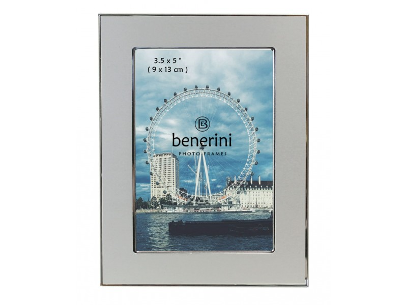3.5 x 5 inches Plain Silver Colour Aluminium Photo Frame Gift Present - 084