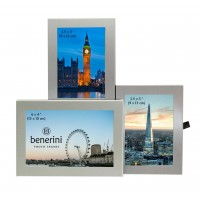3 Photo Aluminium  Silver Colour Multi Aperture Picture Frame Gift Present - 093