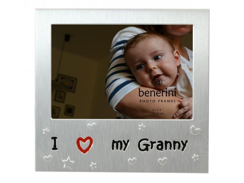"I Love My Granny Photo Frame - 5 x 3.5"" (13 x 9 cm)"