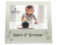 "Baby's 1st Birthday Photo Frame - 5 x 3.5"" (13 x 9 cm)"